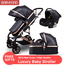 Normal ship! 3 in 1 baby strollers and sleeping basket newbo