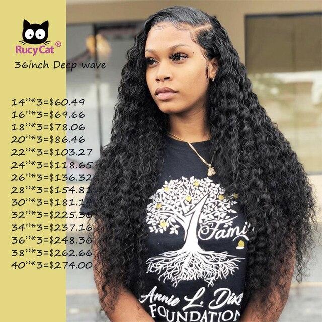 Extensiones de cabello humano brasileño onda profunda 8-32 34 36 38 pulgadas tejido de cabello Natural Color Remy extensión de cabello humano 1/3/4PC envío gratis