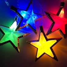 1.65 m 10LED ay yıldız Led ışık dize Eid Mubarak ramazan müslüman Mubarak parti İslam dekor Kare süslemeleri festivali DIY H1L6