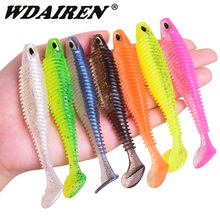WDAIREN Soft Silicone Fishing Lure 80mm 110mm Minnow Easy shiner Worms Wobblers Jigs Artificial Bait Bass Fishing Tackle WD-600