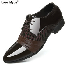 Большие размеры; китайская брендовая классическая мужская обувь; цвет коричневый, черный, белый; модельная обувь из лакированной кожи; офисная элегантная обувь для мужчин