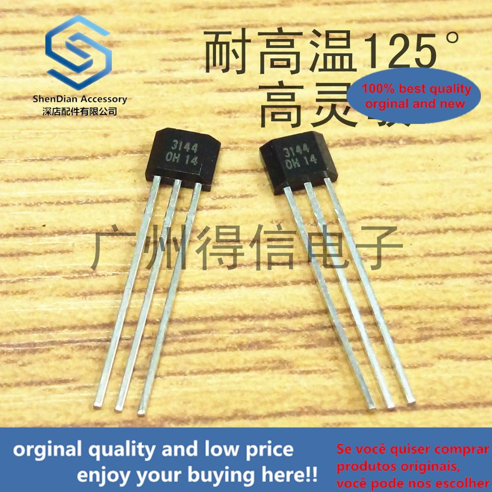 10pcs 100% Orginal New DX3144 3144 High Temperature Resistance 125 ° High Sensitivity Hall Element TO-92S Real Photo