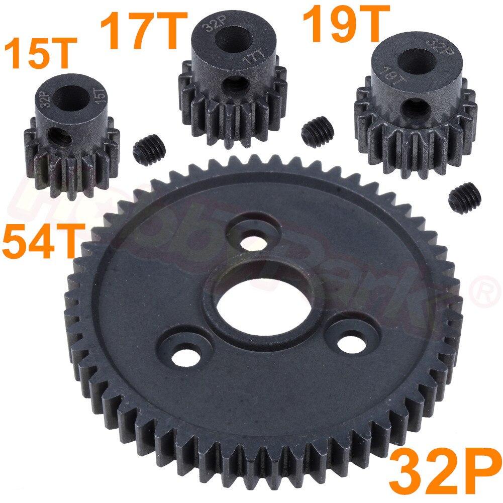 32P Steel Metal Spur Gear 54T / 15T 17T 19T Motor Pinion Gears For Traxxas Slash 4x4 Stampede 4x4 VXL Rustler 4X4 E-Revo T-Maxx