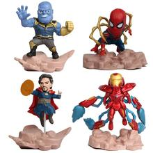 kids 4pcs/set Toy Avengers Super Hero Spiderman Mini Iron Man PVC Action Figure Model Toy dolls Cool toys pandadomik unique resin large ultron toy figure movie model iron man toy avengers figurine decor gift toys for boys kids hobbies