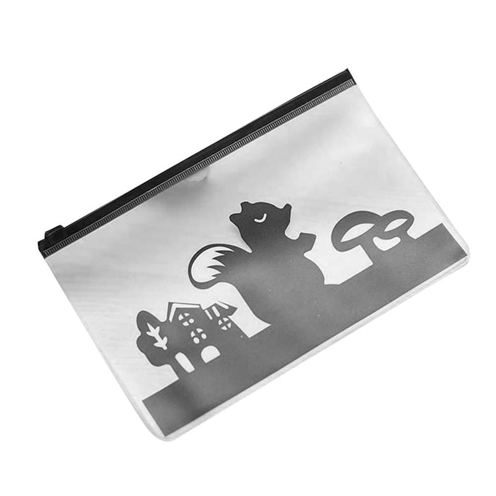 Dichen милый креативный пони Вихрь полупрозрачный матовый файл сумка на молнии ручка сумка для хранения мелочей Dichen