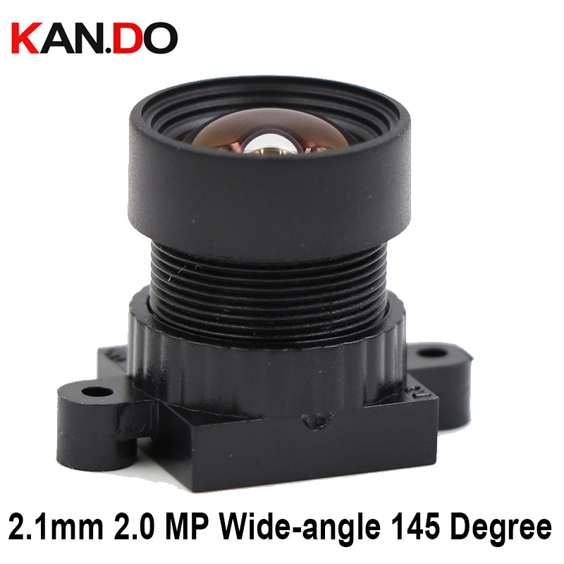 CCTV Camera 2.1mm 2.0 MegaPixel Wide-angle 145 Degree MTV M12 X 0.5 Mount Lens No Distortion,With IR Filter For CCTV Camera
