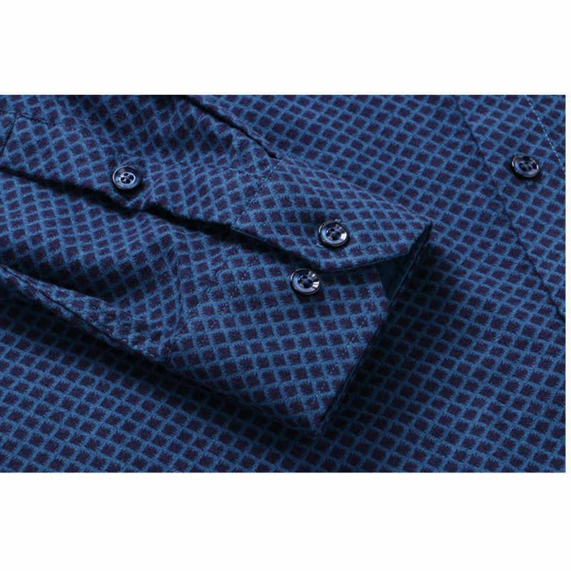 Plus größe 8XL 7XL 6XL 5XL Männer Kleid Shirt Frühjahr Neue Ankunft Taste Unten Kragen Langarm Slim Fit Herren business Shirts