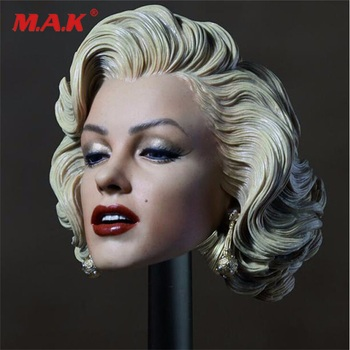 1:6 scale Marilyn Monroe Female Head Sculpt Gentlemen Prefer Blondes 1953 for 12 Woman Action Figure Body Doll