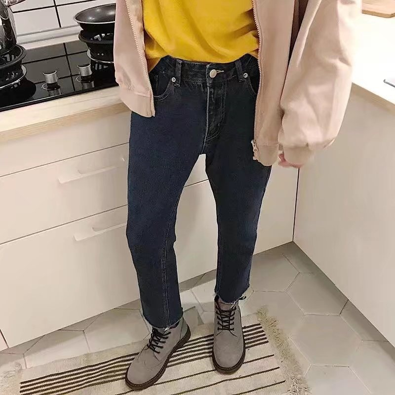 Summer Thin Section Skinny Jeans Men Loose Casual Capri Pants Korean-style Trend With Holes Flash Beggar Pants
