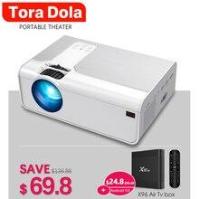Tora Dola Portable Projector TD90, MINI LED Beamer, 3D Home Cinema, Support Max