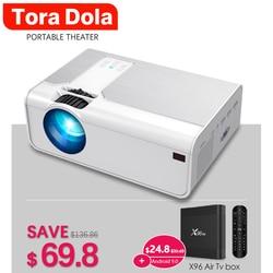 Tora Dola Portable Projector TD90, MINI LED Beamer, 3D Home Cinema, Support Max Full HD 1280x720P, Game Movie Dual USB interface
