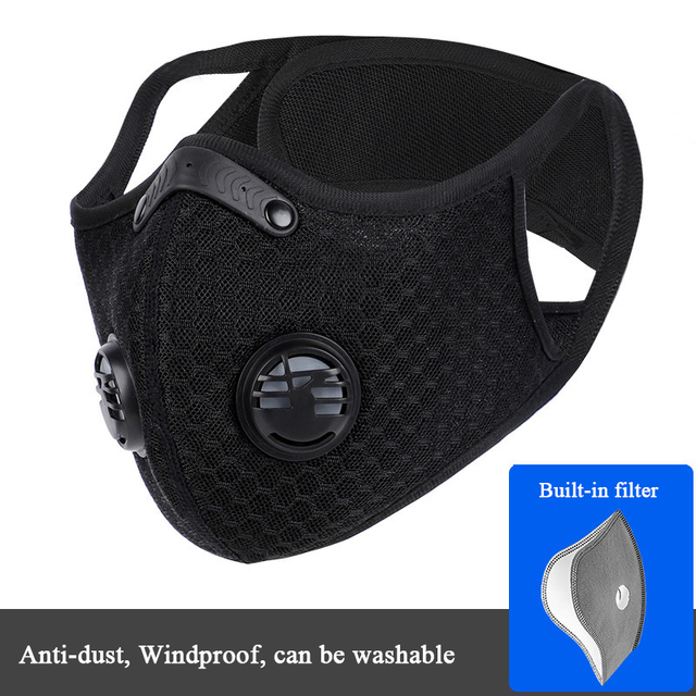 Activated Carbon Mask Dust-proof Anti-fog Cycling Face Mask PM 2.5 Anti-Pollution Outdoor Sport Training Running Masks
