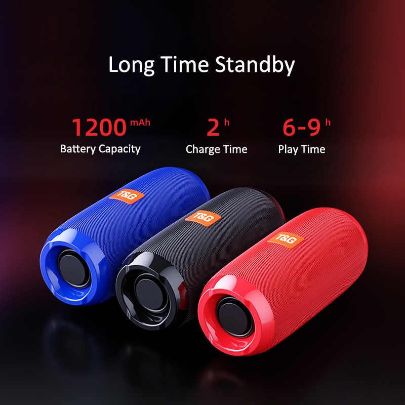Portable Speaker Nirkabel Bluetooth Speaker TG117 Soundbar Olahraga Outdoor Tahan Air Mendukung TF Kartu FM Radio Aux Input