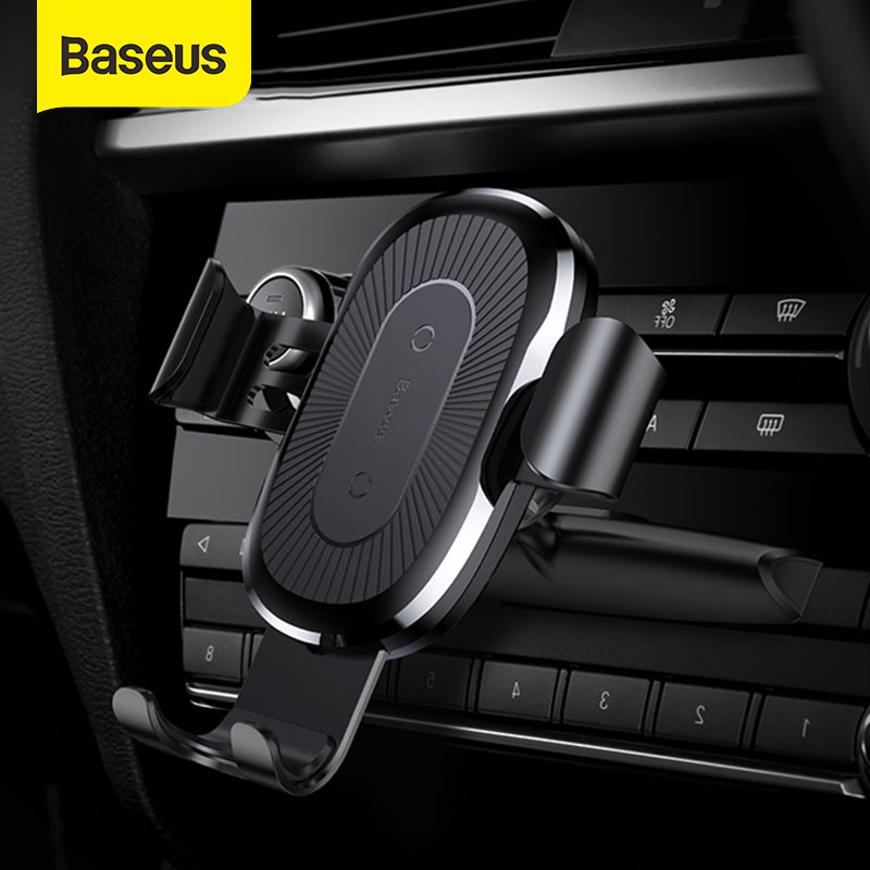 Baseus 10W Wireless Car Charger For Car CD Slot Fast Wireless Phone Charger For IPhone 11 Gravity Car Mount Mobile Phone Holder