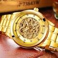 Volledig Automatische Horloges 2019 Top Brand New Fashion Luxe Business Man Horloge 3D Carving Dragon Skeleton Mechanische Horloges