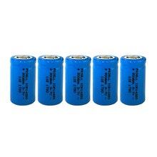 5 adet ICR14250 1/2AA 300mah lityum pil 14250 3.7v li ion şarj edilebilir piller lazer Sight için enstrüman