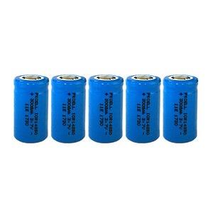 Image 1 - 5PCS ICR14250 1/2AA 300mah batteria al litio 14250 3.7v ricaricabile li ion batterie per Mirino Laser Strumento