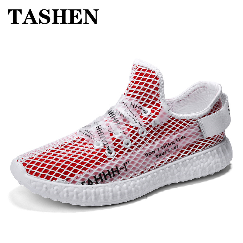 2019 Fashion New Men Running Shoes Breathable Fly Weave Sneakers Outdoor Air 305 Yeezys Lightweight Outdoor Walking Sneakers in Running Shoes from Sports Entertainment