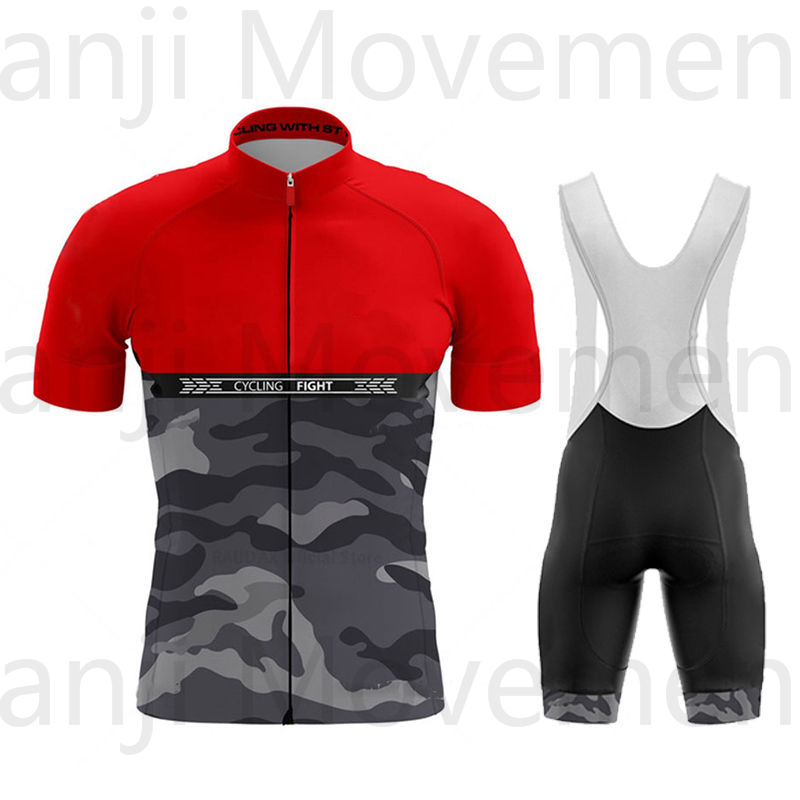 New EKOING Pro Red Short Sleeve Cycling Jersey Cycling Jersey for Men Summer Cycling Jersey Breathable Cycling Clothing Sets