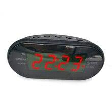 TIOODRE, автомобильные электронные светодиодный часы, настольные часы с будильником, цифровые настольные часы с радио, поставка времени, подарок для дома, функция повтора сигнала, EU Plug AM/FM