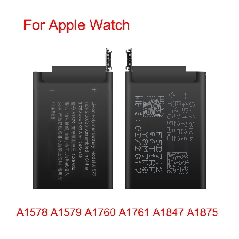 100% Original Battery A1578 A1579 A1760 A1761 A1847 A1875 For Apple Watch Series 1 Series 2 Series 3 GPS 38mm 42mm Batteries
