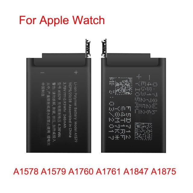 100% Batterie dorigine A1578 A1579 A1760 A1761 A1847 A1875 Pour Lapple Watch Series 1 Series 2 3 GPS 38mm 42mm Batteries