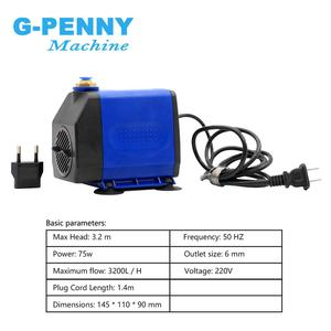 Image 4 - New Arrival! 2.2kw ER20 water cooled spindle kit water cooling spindle & 2.2kw inverter & 80mm spindle bracket & 75w water pump