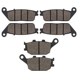 Cyleto Front Rear Brake Pads for Honda 599 CB600 CB600F Hornet CBF600 CBF 600 CBR600 CBR 600 F3 CB 750 Seven Fifty CBF1000 92-11