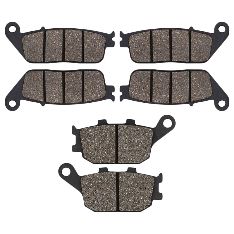 Cyleto Motorcycle Front Rear Brake Pads for <font><b>HONDA</b></font> CB600F CB 600F CB <font><b>600</b></font> F F3 F4 <font><b>2004</b></font> 2006 CB600 CB <font><b>600</b></font> <font><b>Hornet</b></font> Non ABS 2000-2012 image