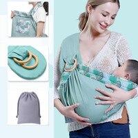 Bebê estilingue recém-nascidos horizontalmente segurando estilo enfermagem toalha quatro estações multi-funcional verão respirável portador de alimentação