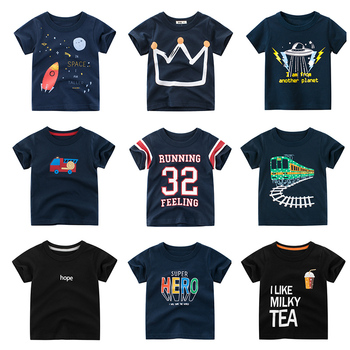 Cotton Boys T-Shirt Kids Shirts Baby Boys Casual Short Sleeve Print T-shirt for Boy Summer Children Toddler Tee Shirts Tops цена 2017