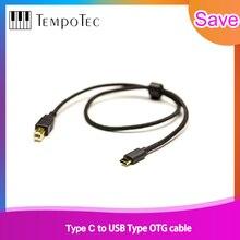 MP3 נגני & מגבר אביזרי TempoTec סוג C כדי USB B סוג OTG כבל אודיו עבור סוג C טלפון & MP3 נגן כדי DAC