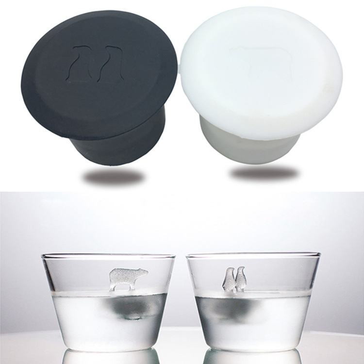 Iced Beverage Whiskey Only Silica Gel Ice Making Mould Of Ice Cubes Creative Penguin Polar Bear Polar Ice Tray