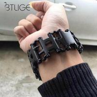 New Wearable Tread Multi function Tool Bracelet Strap Multi function Screwdriver Outdoor Emergency Kit Multi Tool