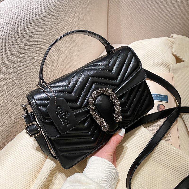 Новинка 2021, однотонная сумка через плечо для женщин, модные сумки на одно плечо с клапаном, женские модные кошельки и сумочки, Channel Gg