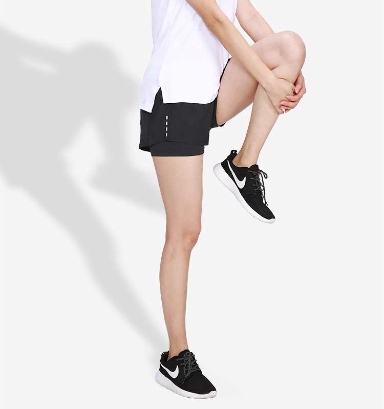 2 In 1 Womens Running Shorts