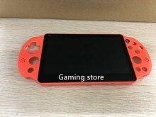 Novo original para psvita ps vita psv 2000 magro lcd screen display com moldura montado orange red