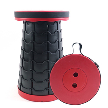 Telescopic Ultra-light Portable Round Stool for Bathroom, Small Folding Space