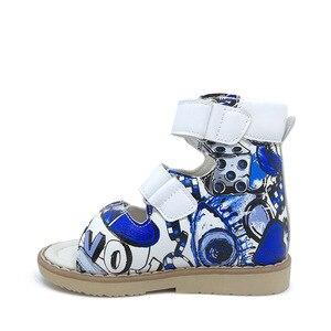 Image 2 - Ortoluckland çocuk sandaletleri ortopedik ayakkabılar çocuklar için erkek deri okul ayakkabısı kızlar burnu açık yaz sandalet bebek rahat ayakkabı
