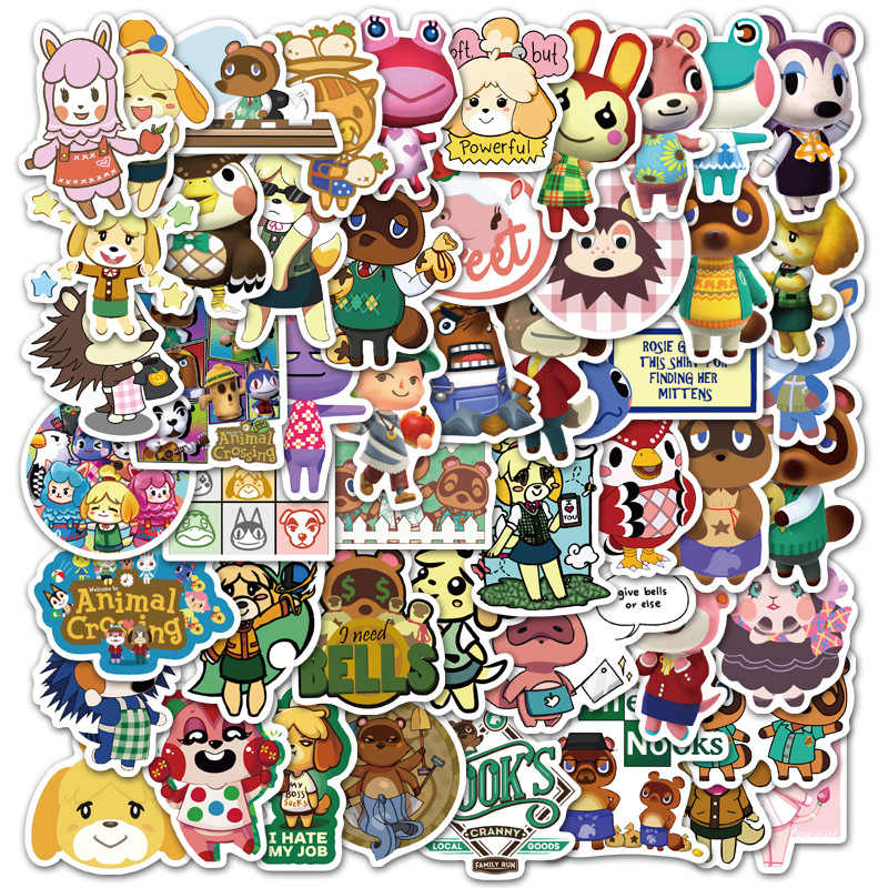 50 Pcs Animal Crossing Game Stickers Skateboard Koelkast Guitar Laptop Motorfiets Reizen Bagage Speelgoed Sticker Voor Kid Gift F5