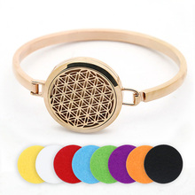 BOFEE Essential Oil Diffuser Aroma Bracelet Magnetic Locket Charm Fragrance Stainless Steel Chain Aromatherapy Jewelry Gift