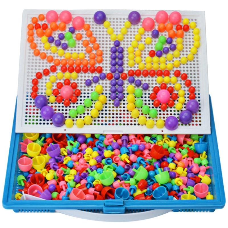 """296 головоломка для ногтей, обучающая игрушка """"сделай сам"""", обучающая детская цветная доска, дидактические игры, интеллектуальный пластик"""