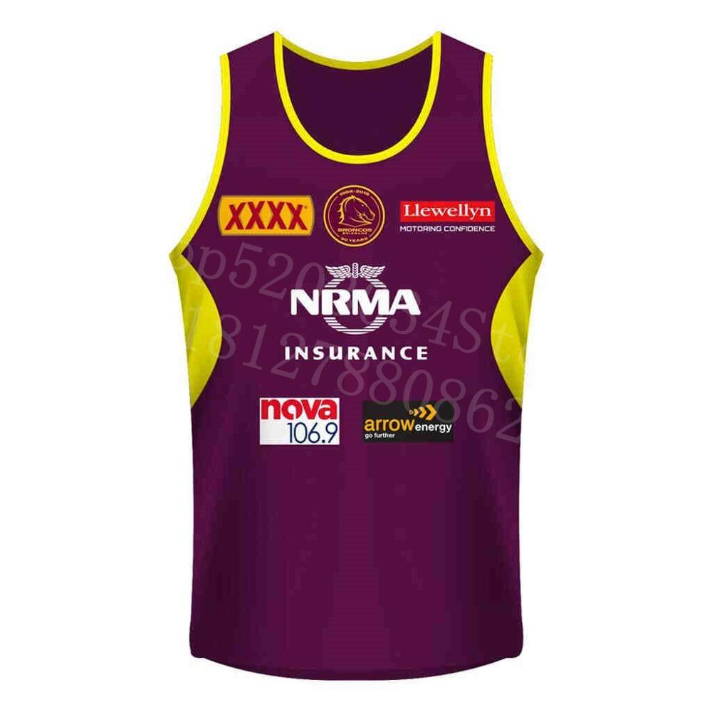 2018/19 FOR BRISBANE MUSTANG Vest Embroidery Futbol Gym Replica Guernsey Rugby Jersey Free Shipping Order 10 Pieces For 1 Piece