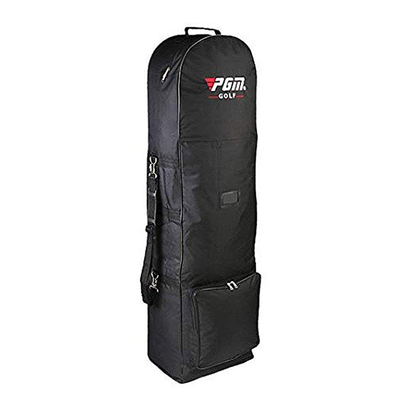 ABUO-Pgm النايلون حقيبة غولف حقيبة الهواء مع بكرة للطي حقيبة غولف مزدوجة سستة خفيفة الوزن الكرة حقيبة