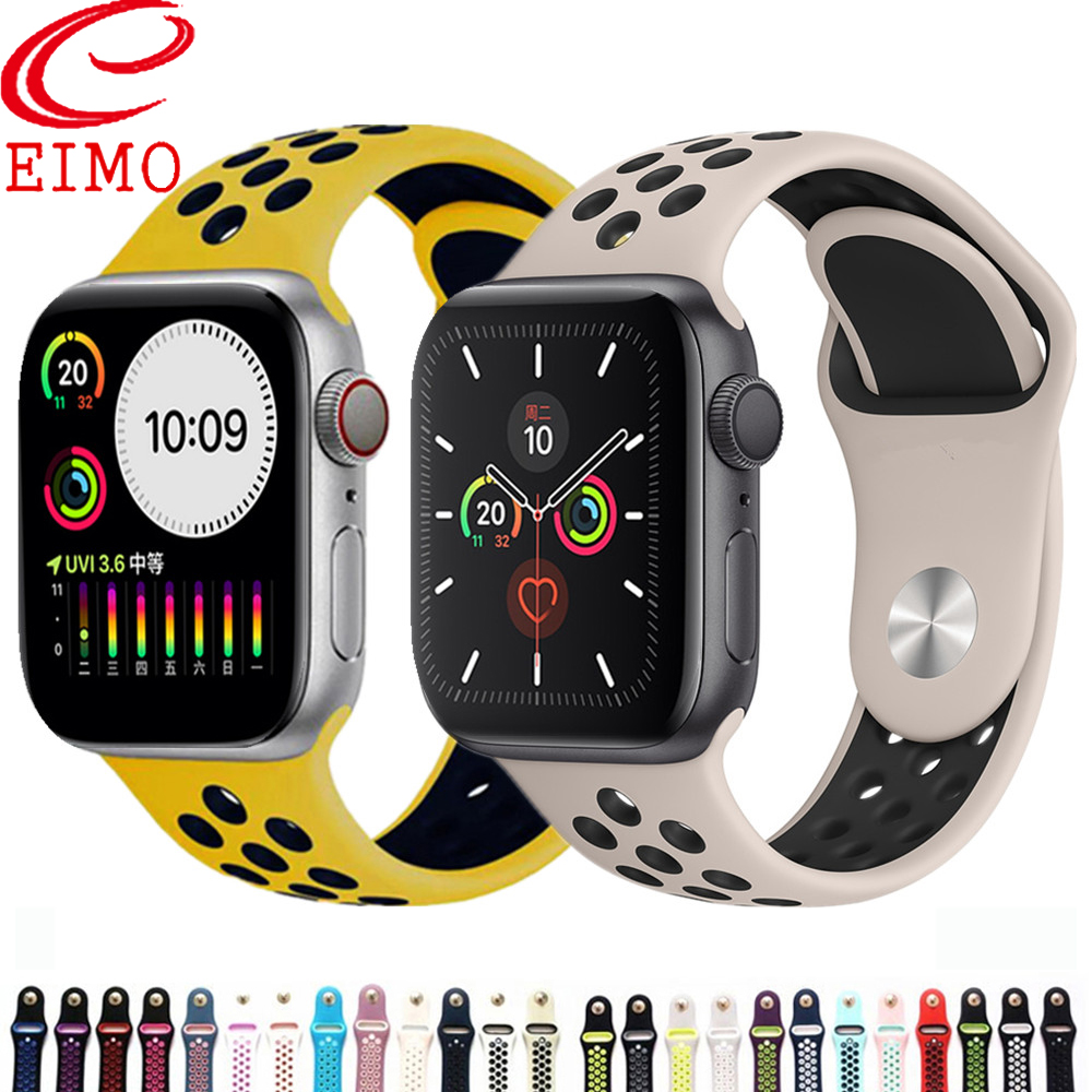 Sport Strap For Apple Watch Band 44mm/40mm Apple Watch 5 4 3 2 Band Iwatch Band 42mm/38mm Correa Bracelet Belt Watch Accessories