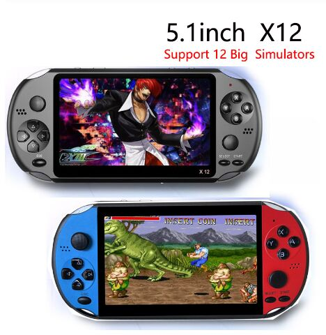 X12 Handheld Game Console 8G 32/64/128 Bit HD Color LCD Screen 3000+ Games Kid Video Retro Portable Handheld Game Player on TV