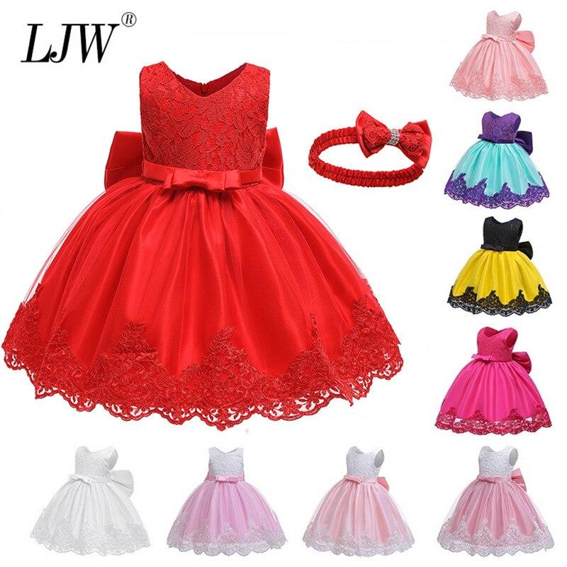 2020 robe de noël pour enfants fleur filles robe fête robe de mariée princesse Vestidos 2 4 6 8 10 12 ans robe adolescent