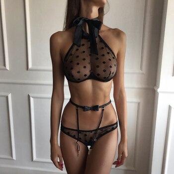 Women Sexy Lingerie Lace Babydoll Open Bra
