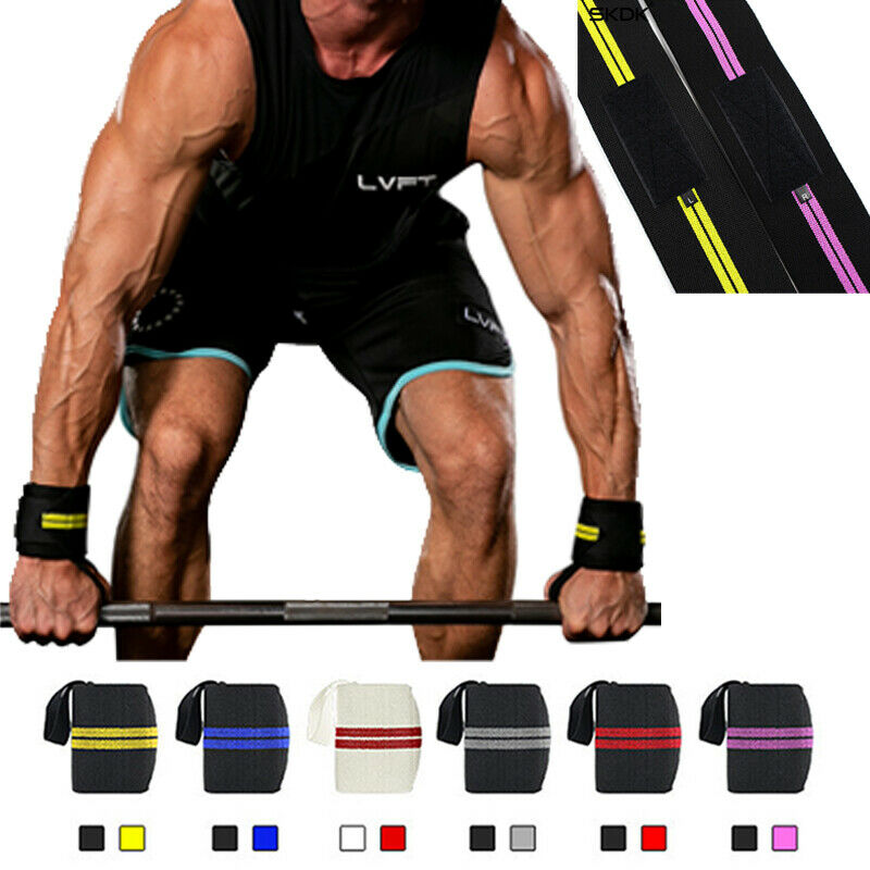 1PCS Wrist Support Gym Weightlifting Training Weight Lifting Gloves Bar Grip Barbell Straps Wraps Hand Protection
