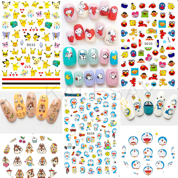 3D Nails Art Sticker Manicure Japan Cartoon Sticker Dog Decoration Back Glue Pokemon Design Decal on Nail Stickers Cat Mouse multicolor mixed nail french sticker 3d nail sticker diy tips beauty french manicure stickers for nails decal 30sheet